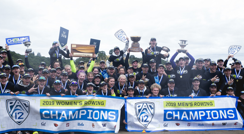 Washington sweeps Pac-12 men's and women's rowing titles for third-straight year