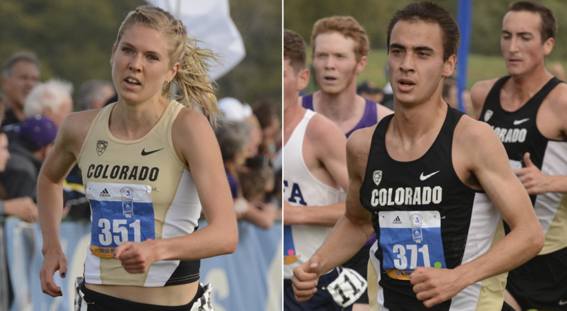 2016 Pac-12 Cross Country Scholar-Athletes of the Year - Colorado's Erin Clark and Ben Saarel