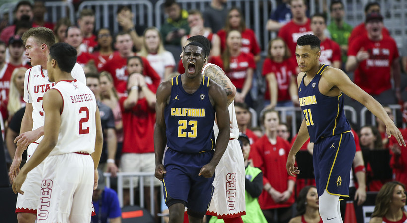 <p>Cal's Jabari Bird celebrates a bucket against Utah.</p>