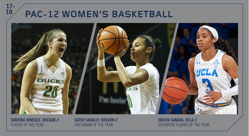 Oregon's Ionescu named Pac-12 Player of the Year