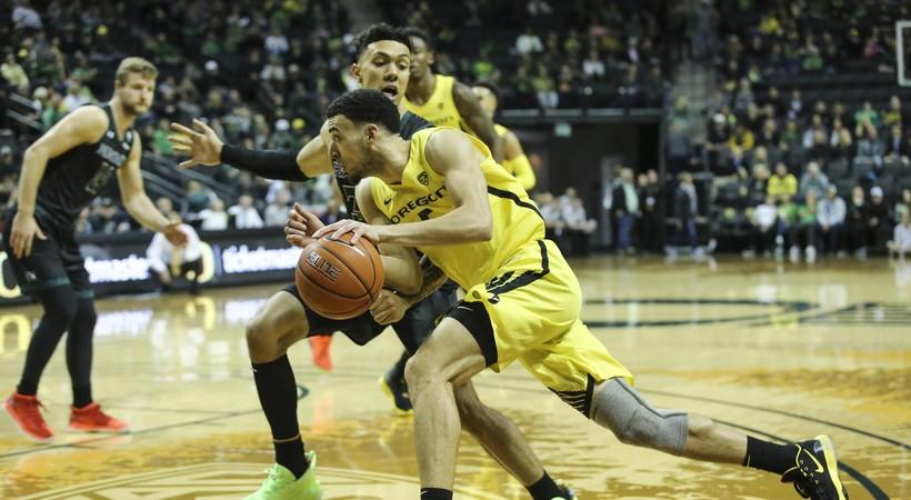 Highlights: No. 13 Oregon men's basketball uses big second half to beat Hawai'i