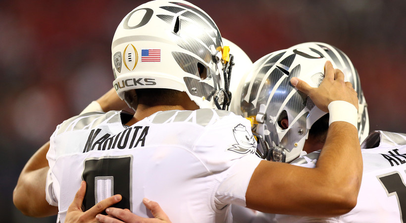 Marcus Mariota makes emotional exit after CFP National Championship