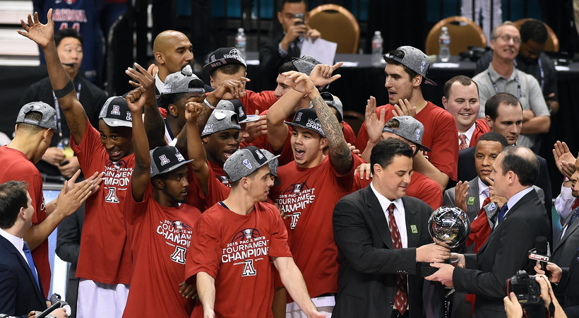 Pac-12 Tournament: Arizona cuts down the nets as tourney champion with rout of Oregon