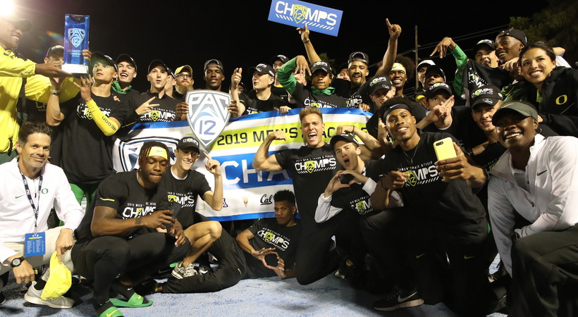 2019 Pac-12 Track & Field Championships: Oregon men celebrate 13th straight conference crown