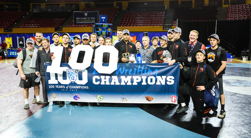 Oregon State Wins Fifth-Straight Title at 2016 Pac-12 Wrestling Championships