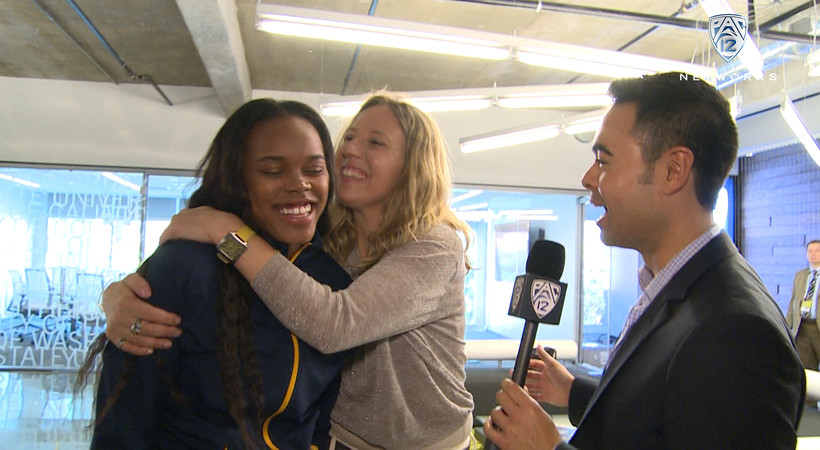 Fun with Cal at Women's Basketball Media Day