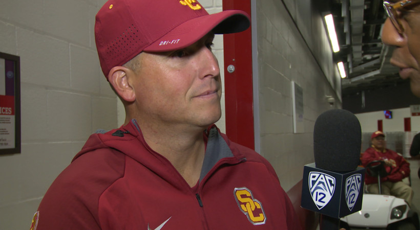 USC head coach Clay Helton: 'We hope to be back here next year'