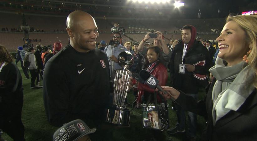 Stanford's David Shaw: 'We're just Rose Bowl Champions'