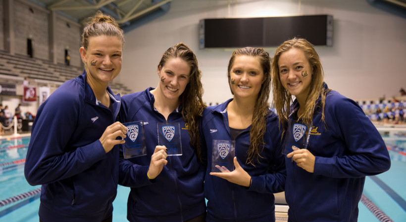 California breaks records on day one of women's swimming championships
