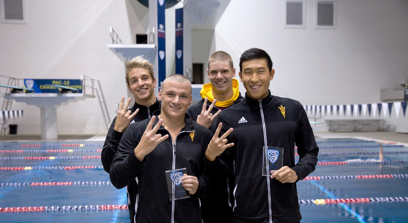 2017 Pac-12 Swimming (M) Championships: With coach Bob Bowman, future looks bright for ASU freshman Cameron Craig