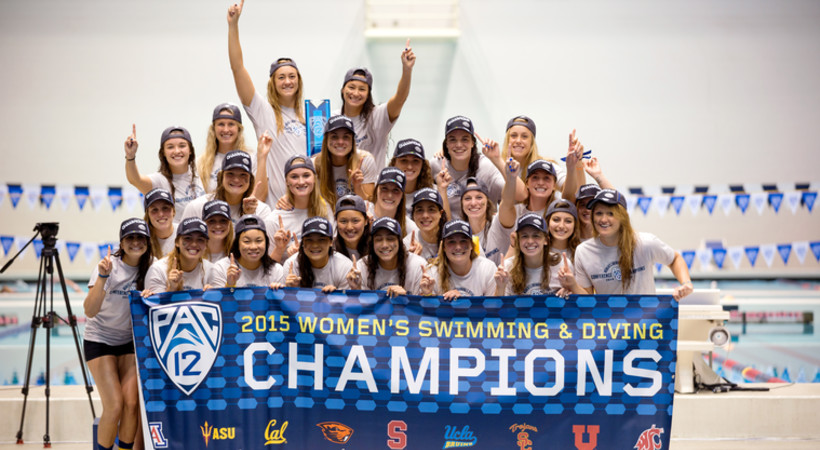 California Wins 2015 Pac-12 Women's Swimming and Diving Championship
