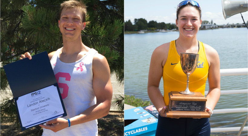 Alecxih, Chase named Men's and Women's Rowing Scholar-Athletes of the Year