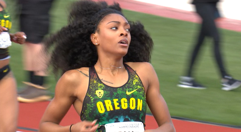 2017 Pac-12 Track & Field Championships: Oregon's Deajah Stevens steamrolls to world-leading 200m time to earn Pac-12 crown