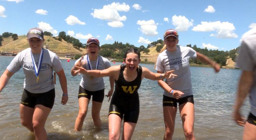 2017 Pac-12 Rowing Championships: Washington's coxswains get traditional, celebratory dunking