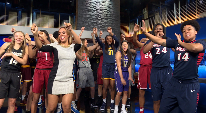 2016 Pac-12 Women's Basketball Media Day: #JuJu dance challenge sweeps the Conference of Champions