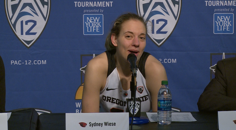 2017 Pac-12 Women's Basketball Tournament: Oregon State's Sydney Wiese talks Beaver Nation
