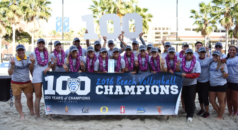 2016 Pac-12 Beach Volleyball Team Champions USC