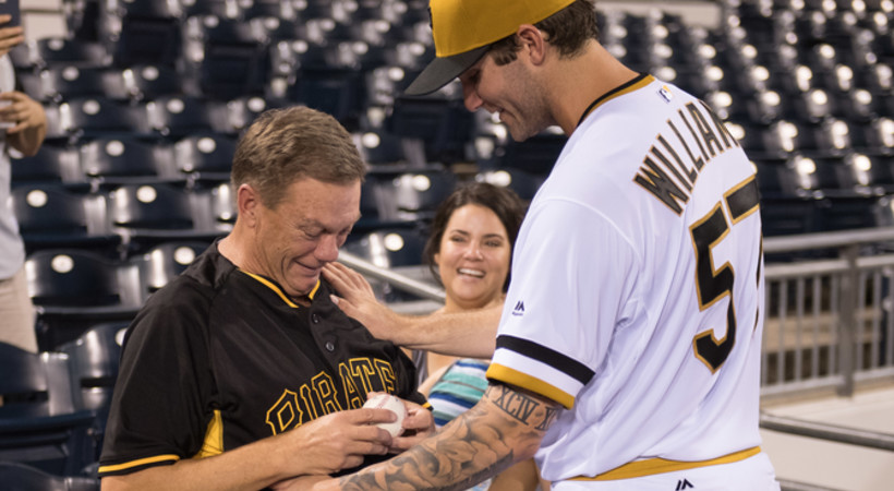 Ex-Tribe pitcher Trevor Williams shares heartwarming moment with dad after debut