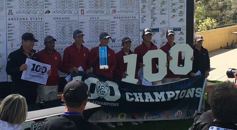 Stanford captures third consecutive Pac-12 men's golf title