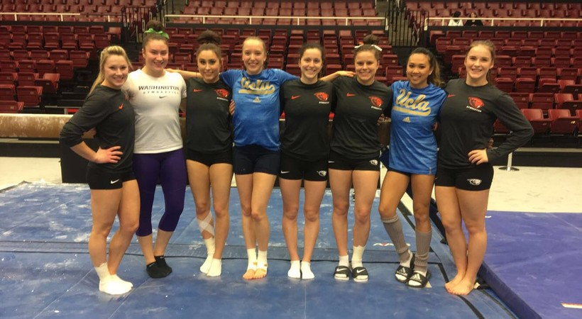 2017 Pac-12 Women's Gymnastics: Canadian gymnasts reconnect ahead of competition day