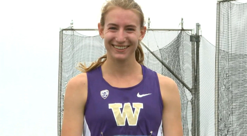 Washington's Knight on winning women's 10000m: 'The best thing I could ask for'