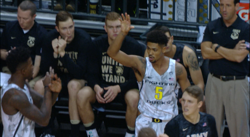Recap: No. 5 Oregon men's basketball tops Army to extend home winning streak