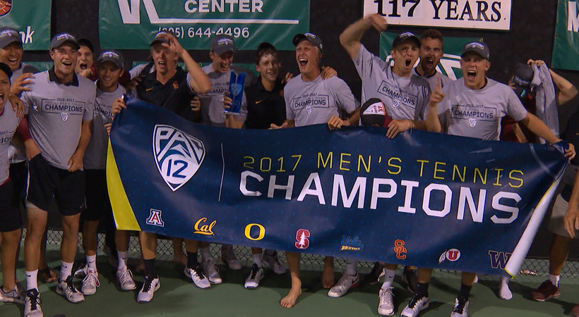 Recap: USC men's tennis tops UCLA in 7-set thriller to claim Pac-12 Championship