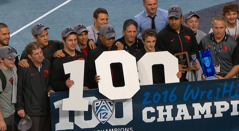 Recap: Oregon State wins fifth straight title at the Pac-12 wrestling championships