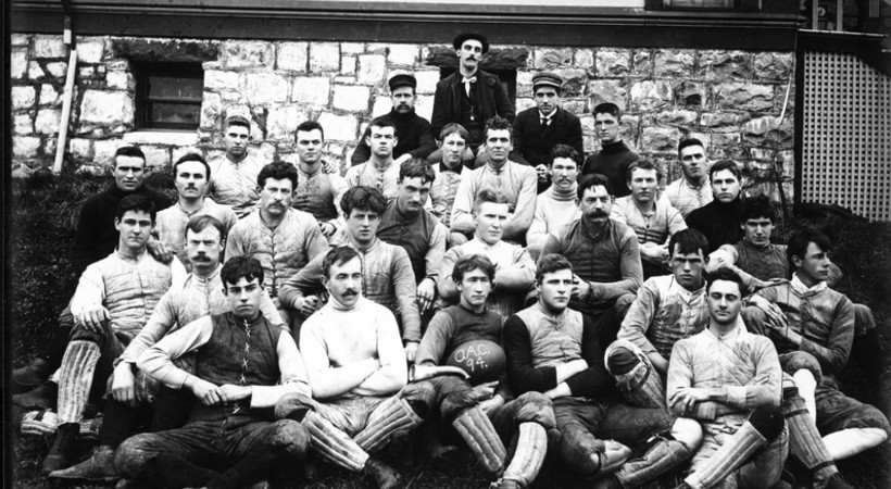 <p>This 1894 photo shows the second football team ever at Oregon Agricultural College, one day to be called Oregon State University.</p>