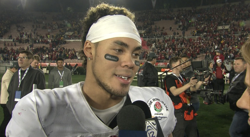 Stanford's Michael Rector on Christian McCaffrey: 'Thankfully, he's here with us'