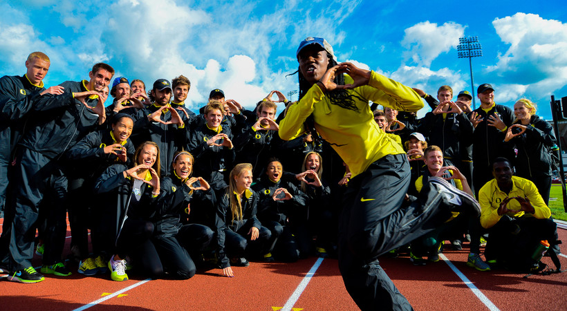 Oregon claims men's and women's Pac-12 track & field titles