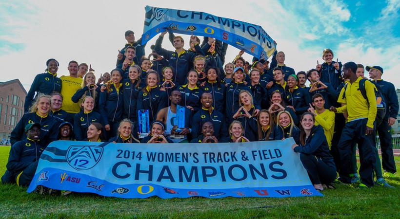 Oregon wins 2014 Pac-12 Men's & Women's Track & Field titles