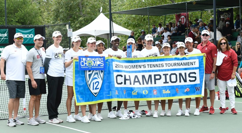 2019 Pac-12 Tennis Championships: Stanford women celebrate third straight title in Ojai