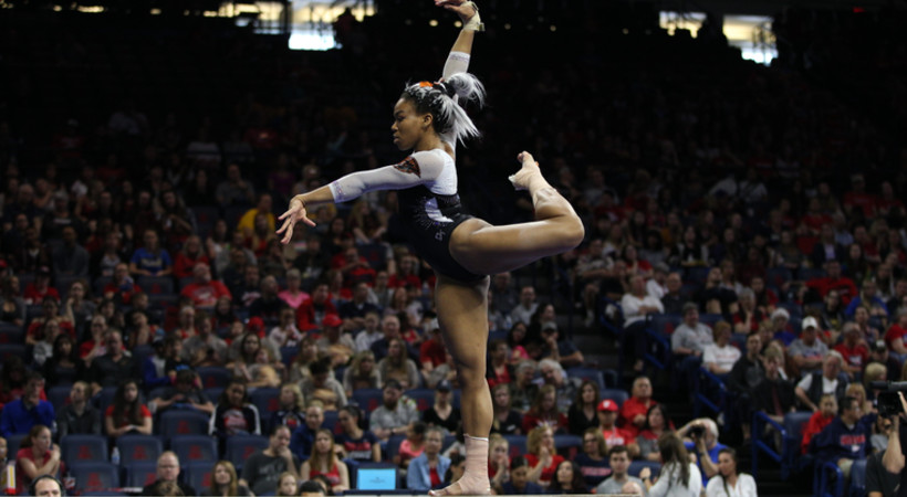 Oregon State Leads After Session 1 Of Pac 12 Gymnastics