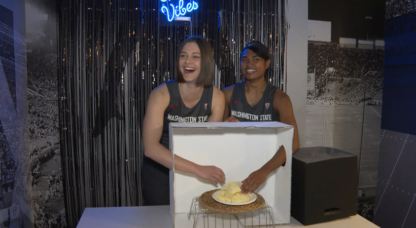 "Pac-12 women hoopers play ""What's in the Box?"" at media day"
