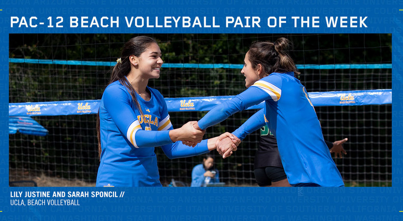 UCLA duo claims first Pac-12 Beach Volleyball Pair of the