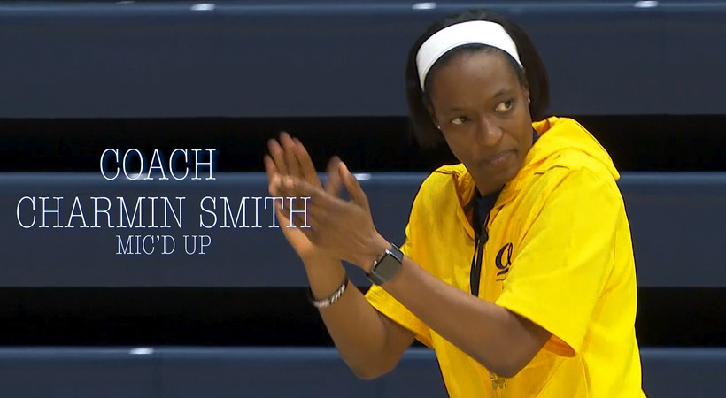 Charmin Smith mic'd up: Bears head coach brings the intensity at Cal pracitce