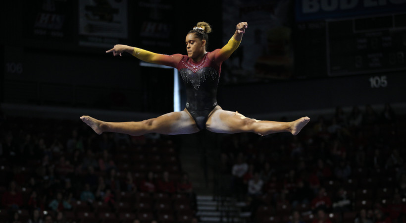 Arizona State leads Pac-12 women's gymnastics after Session 1