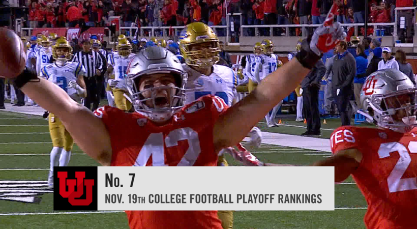 Utah remains in solid position at No. 7 in College Football Playoff rankings