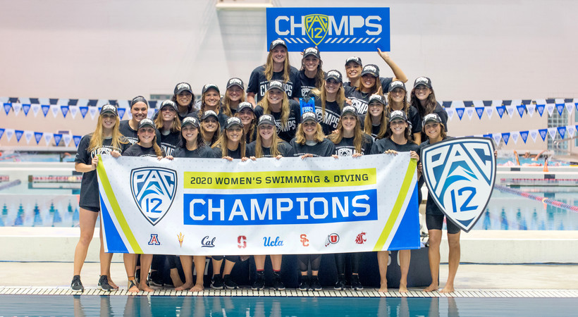 2020 Pac-12 Swimming (W) & Diving (M/W) Championships: Stanford celebrates fourth straight title after dominant final day