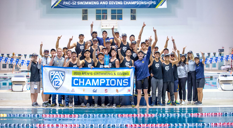 California defends Pac-12 men's swimming and diving title