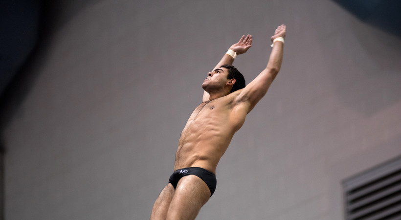 2019 Pac-12 Swimming (W) & Diving (M/W) Championships: ASU's Youssef Selim wins Pac-12 title in men's platform