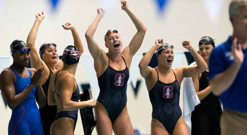 2018 Pac-12 Swimming (W) & Diving (M/W) Championships: Stanford claims second-straight title behind record-breaking performances