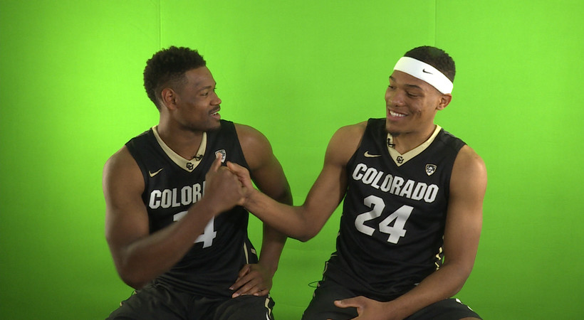 2017 Pac-12 Men's Basketball Media Day: Colorado faces off on the ping pong table