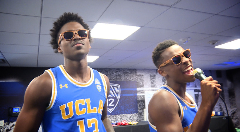 2018 Pac-12 Men's Basketball Media Days: UCLA's Jaylen Hands, Kris Wilkes belt out karaoke