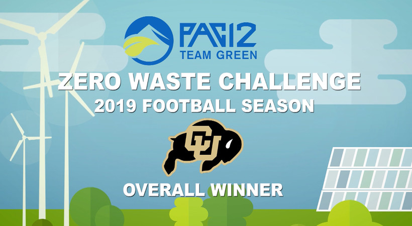 Colorado wins second-straight Pac-12 Zero Waste Challenge for 2019 football season