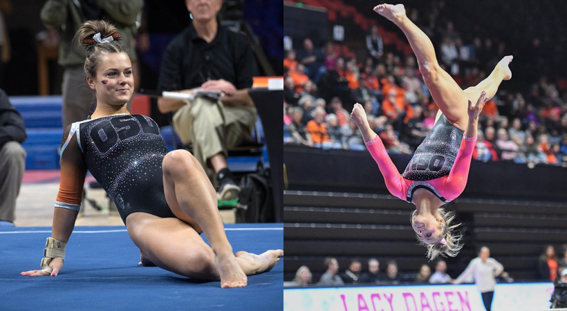 Sisters Lacy and Madi Dagen contributing key points for Oregon State women's gymnastics