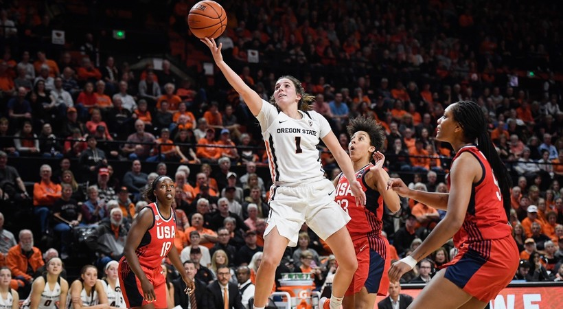 Highlights: Strong second-half performance lifts USA Women's National Team over Oregon State