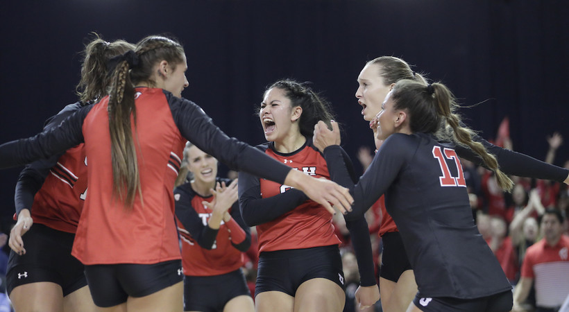 Highlight: Utah women's volleyball finishes off sweep of No. 14 BYU for Sweet 16 berth