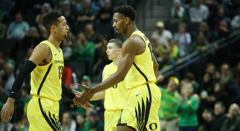 Highlights: Offensive onslaught leads No. 12 Oregon men's basketball past UCLA, 96-75